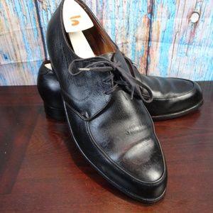 Florsheim Black Lace up Dress Shoes 9 Extra Wide